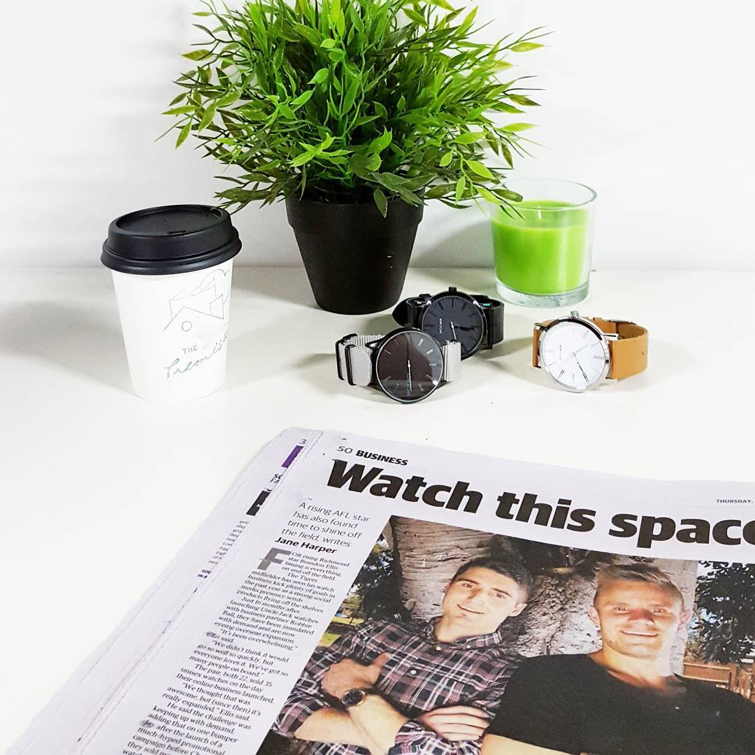 Sneaky little feature in the Herald Sun today! #watchthisspace @brandonellis @unclejackwatches